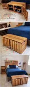 Pallet Bed with Storage Box